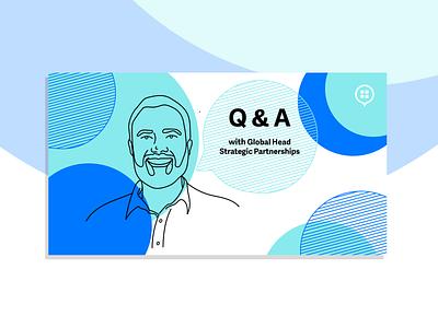 Button Q&A Blog Header Illustrations hand drawn web branding illustration design