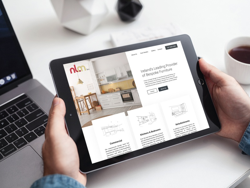 NLM TEO web ecommerce website design