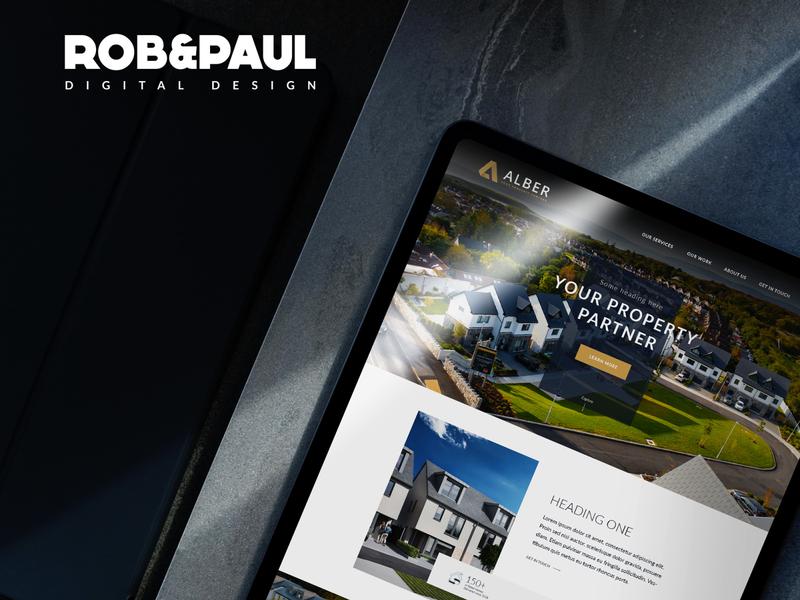 Alber Developments branding design web design