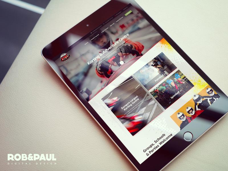 Pallas Karting & Paintball web design ecommerce web design