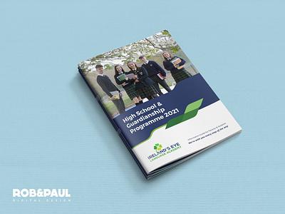 Ireland's Eye Language Academy print graphic design brochure design