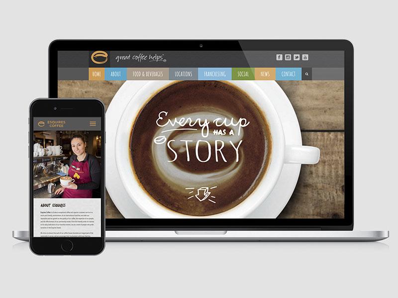 Esquires Coffee - Web Design / Print print design web design