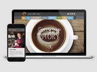 Esquires Coffee - Web Design / Print