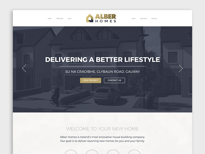Alber Homes - Website Design design web