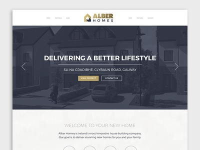 Alber Homes - Website Design