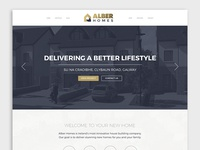 Robpaul dribbble alber homes website design malvernweather Image collections