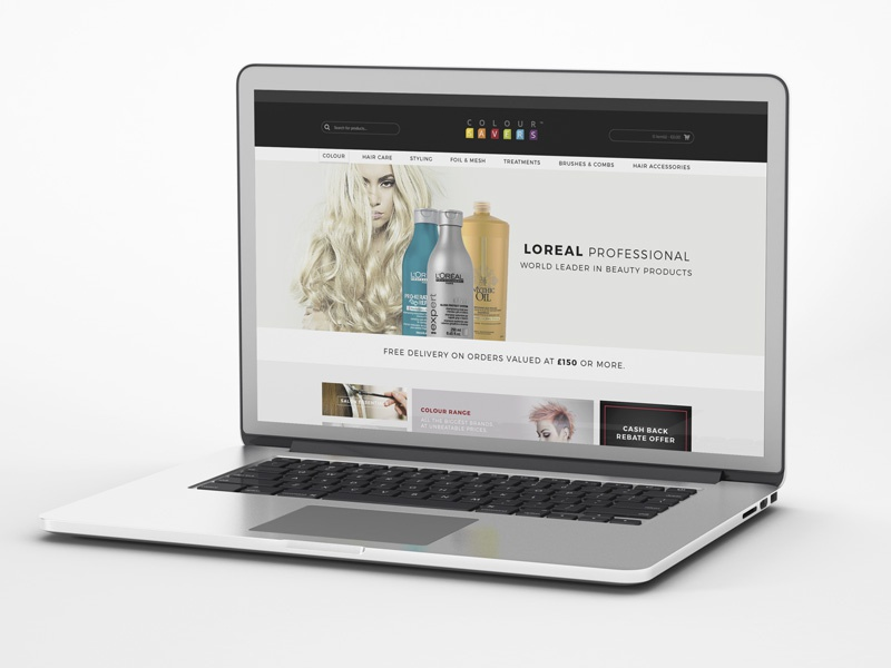 Colour Savers - eCommerce web design ecommerce