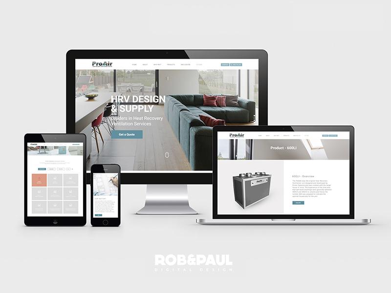 Pro Air - Web Design design web