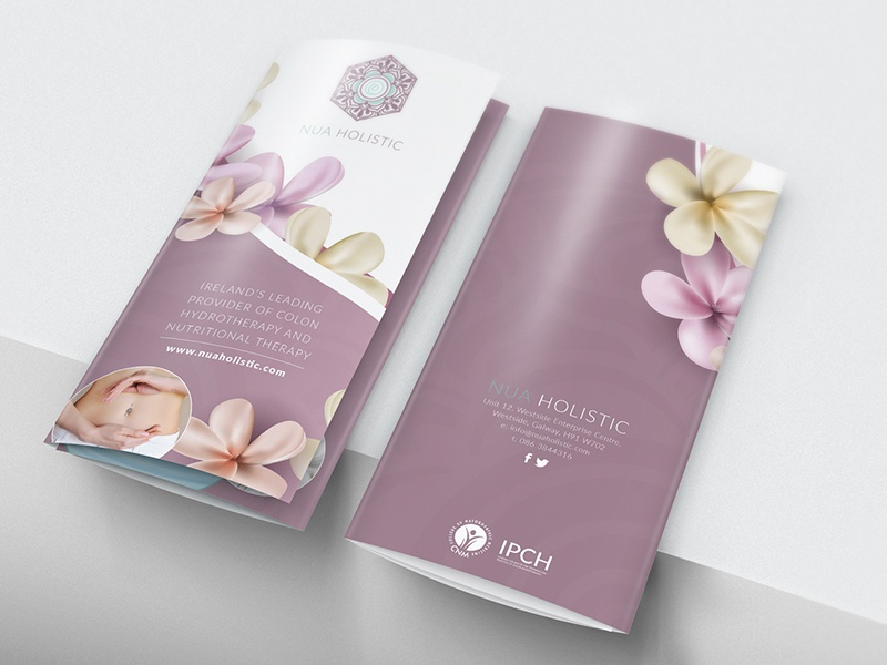 Nua Holistic - Print business card design brochure branding print
