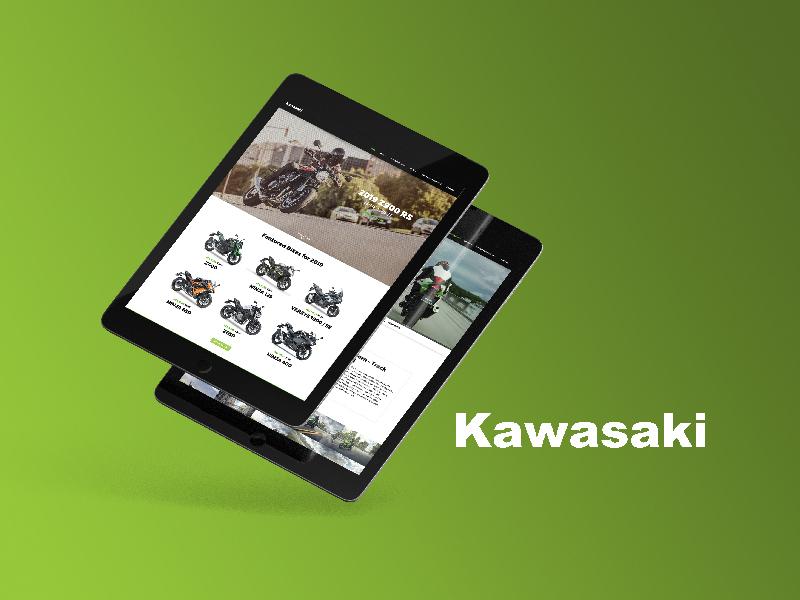 Kawasaki Ireland - Web Design web design
