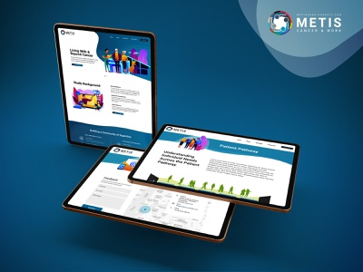 Metis - Cancer & Work branding logo web design