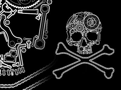 Pirate cyclist t-shirt design t-shirt pirate design skull outline