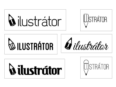 Ilustrátor logo logo vector pencil