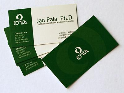 Comipa business card logo