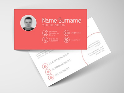 Just playing with simple modern business card