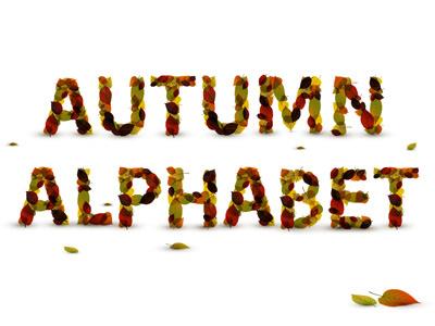 Autumn Leaf Alphabet / Fall alphabet leaf font autumn fall