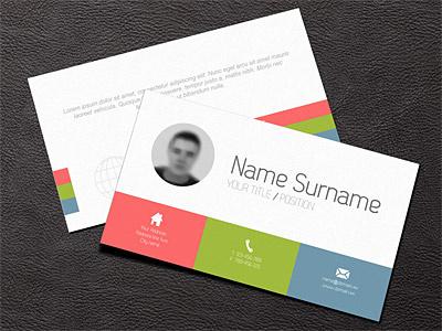 Minimalistic Business Card card business template design flat minimalistic
