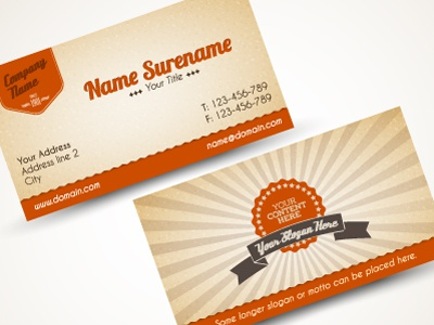 Playing with old style business card by petr vclavek dribbble dribbble retro colourmoves