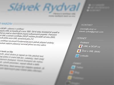 Minimalistic homepage minimalistic web page homepage profile