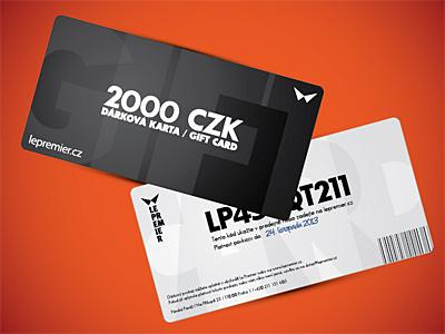 Gift Card for LEPREMIER gift card black white minimalistic brand