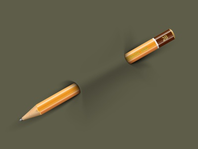 Pencil on a t-shirt pencil vector t-shirt