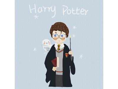 Harry Potter blue sketch painting illustration drawing comic cloud potter harry boy anime