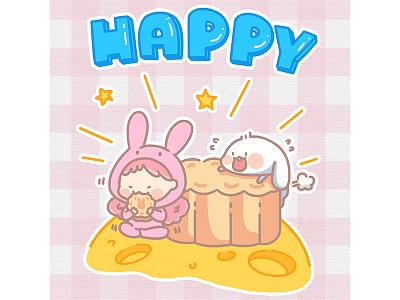 The rabbit girl girl sketch potter painting illustration drawing comic cloud rabbit blue anime alien