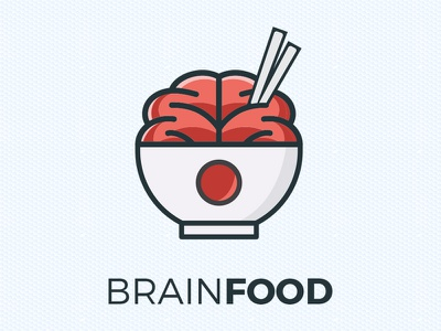 Brain Food illustrator graphic design logotype