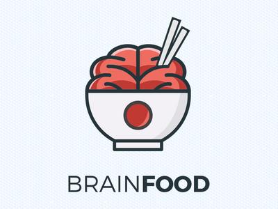 Brain Food illustrator graphic design logotype