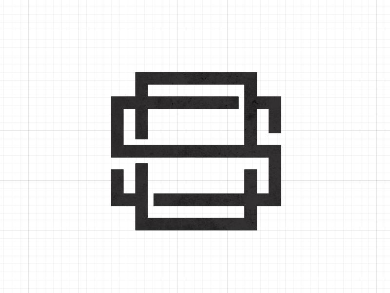 Monogram ES monogram illustrator graphic design logotype