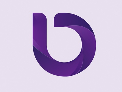 B logo gradient logotype creative photoshop graphic design