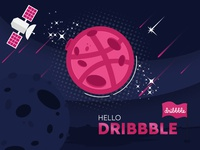 Hello Dribbble creative photoshop graphic design