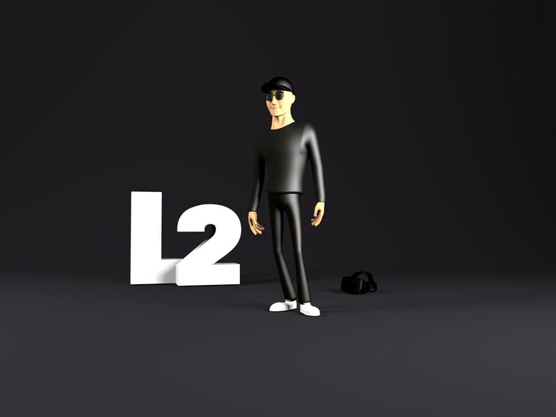 L2 - 3D Avatar website render illustration ar vr c4d avatar character 3d