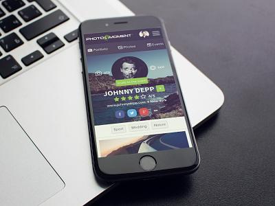 P1M Portfolio app appdesign ui ux userinterface userexperience design mobile mobileap photo moment