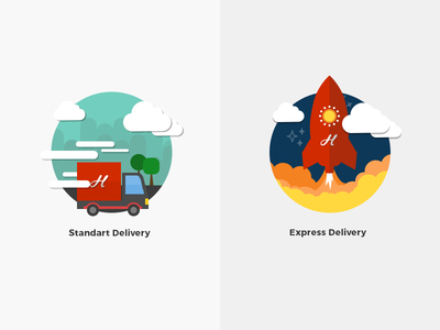 Delivery Illustrations flat icon illustration shipping delivery checkout shop