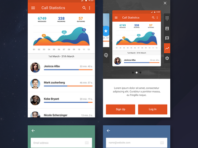 Free Ui Kit For Stars statistics free android app stars mobile ux kit ui freebie