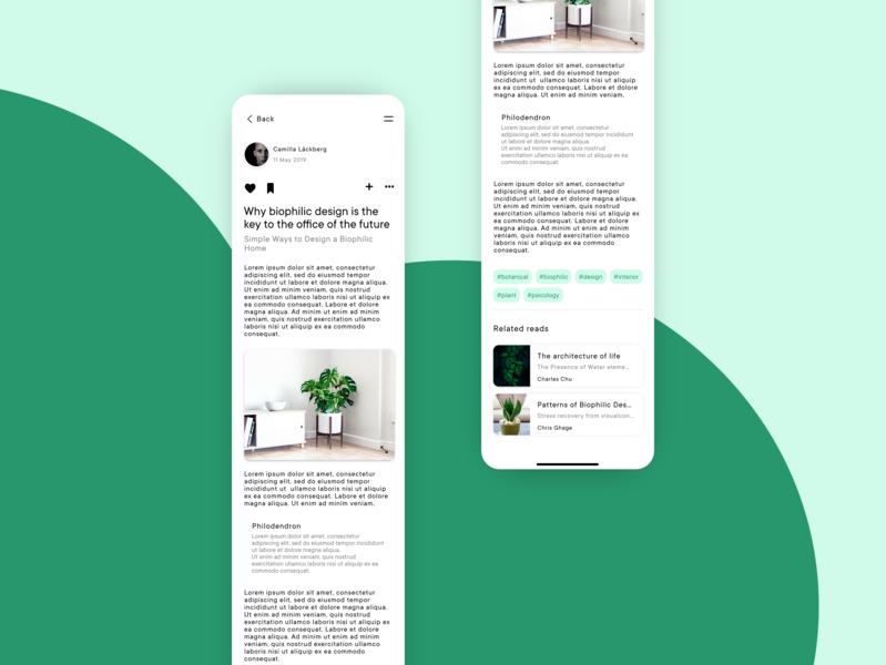 Concept app - Detail page web ux app ui design