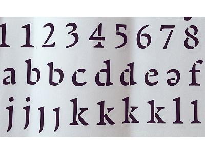 Arouet Stencil alphabet lower case type design typeface design typeface font serif stencil