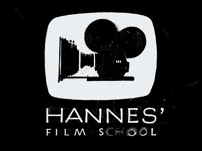 Logo for Hannes' Film School illustration caps sans serif logo hand lettering procreate app ipad