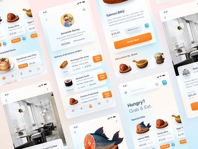 FoodMood App Design gradient colors ui deisgn restaurant food mobile apps app mobile ui mobile ux ui  ux ui interface mobile app design mobile app ux ui design minimal ui design