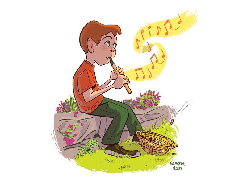 Will Ye Go Lassie Go ireland character design kidlitart drawing digital art illustration