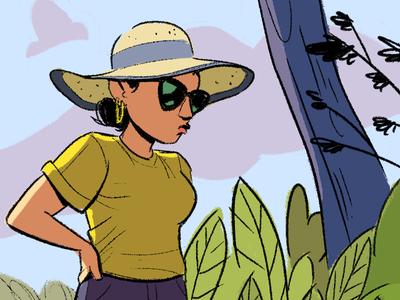 Hiking comic drawing digital art illustration