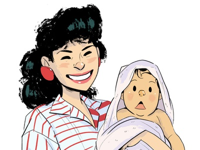 Mother's Day drawing digital art illustration mothers day