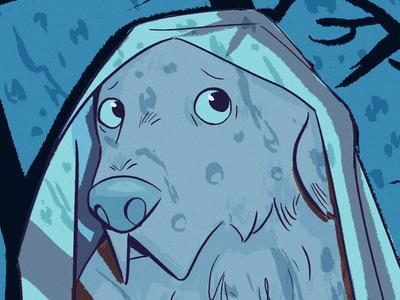 Stormy Weather dog character design kidlitart drawing digital art illustration