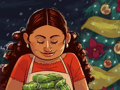 Christmas Pasteles navidad puerto rican christmas character design kidlitart drawing digital art illustration