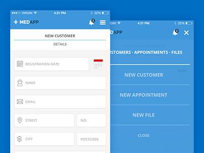 MedApp user interface app ui mobile ios
