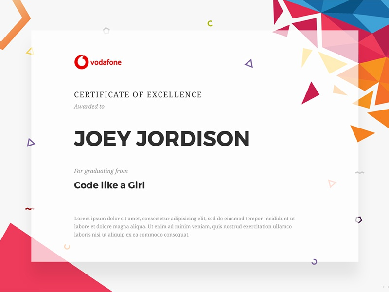 Certificate Of Graduation By Yannis Chalaris Dribbble