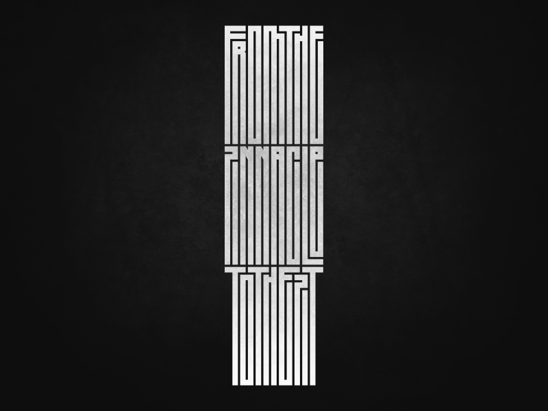 Typography Experiment vector illustration cyrillic geometric typo