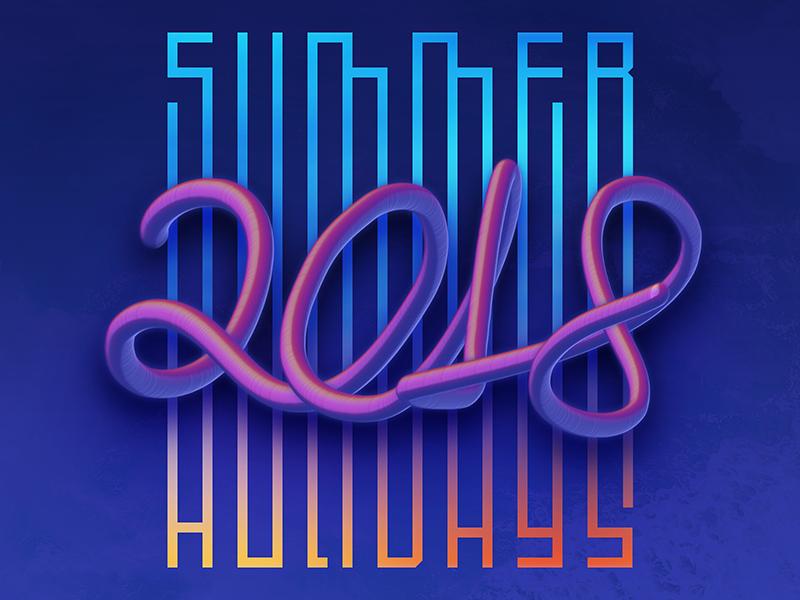 Trippy Summer 2018 summer typo typography illustration