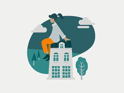 Landing-Page Illustration minimal design flat clean website illustration